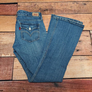 Levi's Too Superlow Jeans Flare Leg Size 5 M